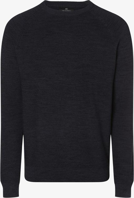 Granatowy sweter Nils Sundström w stylu casual