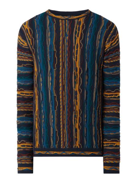 Granatowy sweter Redefined Rebel z okrągłym dekoltem w młodzieżowym stylu