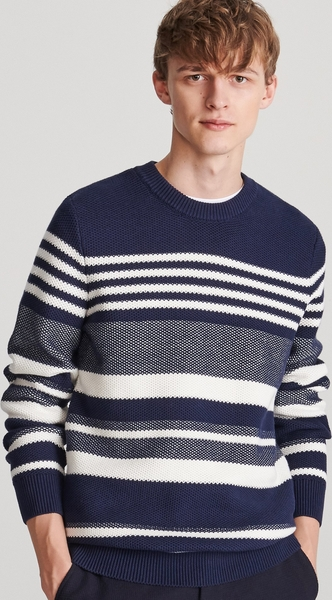 Granatowy sweter Reserved