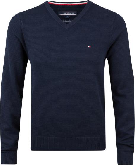 Granatowy sweter Tommy Hilfiger w stylu casual z bawełny