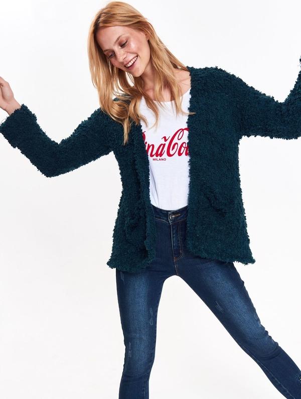 Granatowy sweter Top Secret w stylu casual