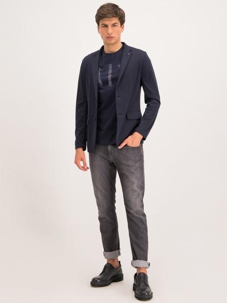 Granatowy t-shirt Armani Jeans z krótkim rękawem