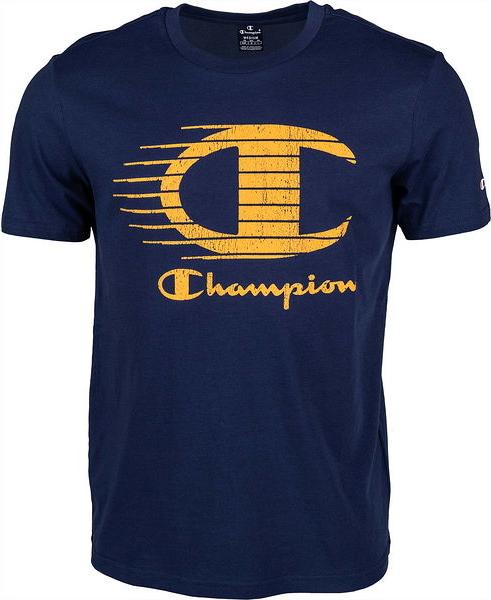 Granatowy t-shirt Champion w sportowym stylu