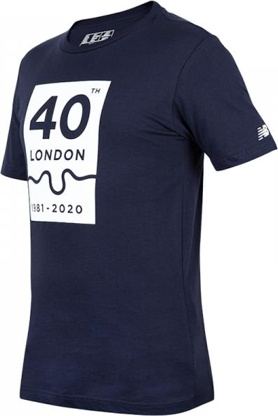 Granatowy t-shirt New Balance