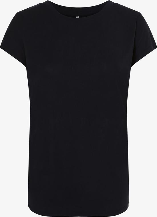 Granatowy t-shirt Only w stylu casual