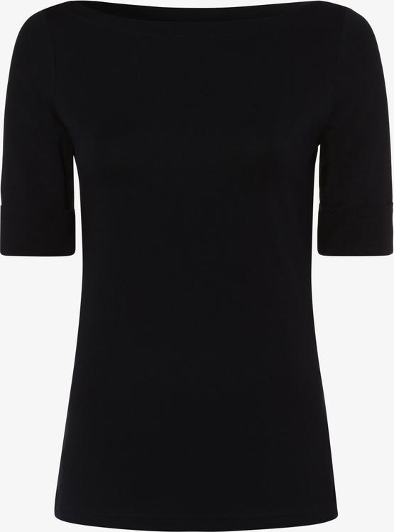 Granatowy t-shirt Ralph Lauren z krótkim rękawem z bawełny
