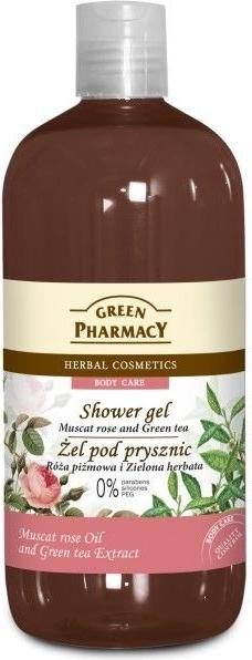 Green Pharmacy, żel pod prysznic, róża piżmowa & zielona herbata