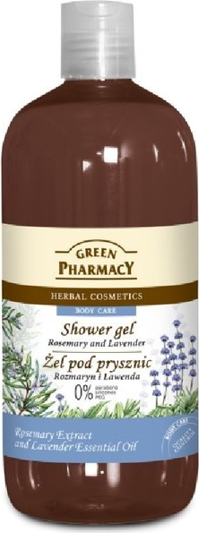 Green Pharmacy, żel pod prysznic, rozmaryn & lawenda