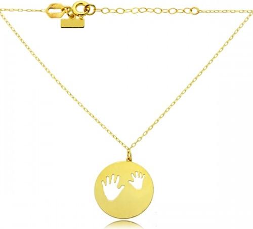 Hosa Złoty naszyjnik celebrytka rączki dziecka
