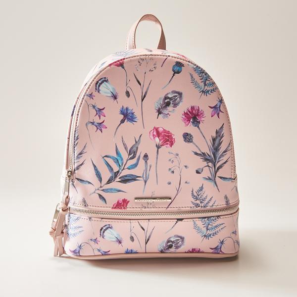 087b0c84d4594 House - plecak w kwiaty - różowy