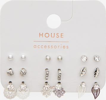 House - Zestaw kolczyków typu sztyft - Srebrny
