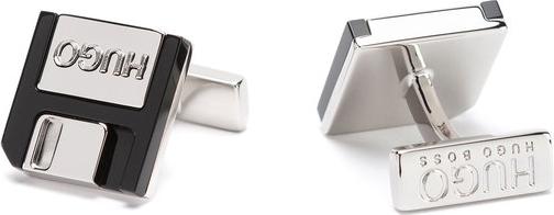Hugo Boss Hugo Spinki do mankietów E-Floppy 50429894 Srebrny