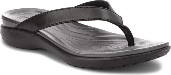 Japonki crocs capri v flip w 202502 blackgraphite