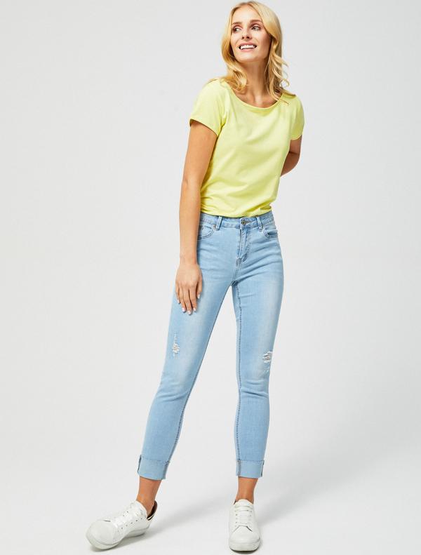 70% ZNIŻKI Niebieskie jeansy Moodo z jeansu Odzież Damskie