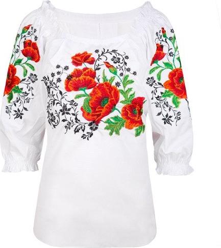 Jk collection damska bluzka z haftem
