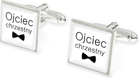 Jubileo.pl SPINKI DLA CHRZESTNEGO kolor srebrny ślub