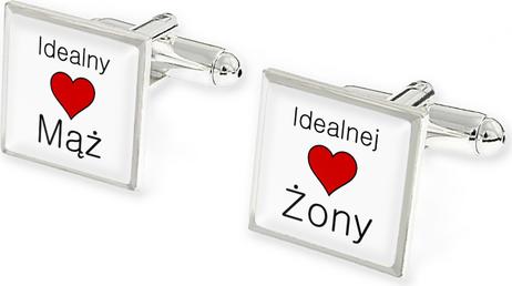 Jubileo.pl SPINKI DO KOSZULI IDEALNY MĄŻ kolor srebrny ślub