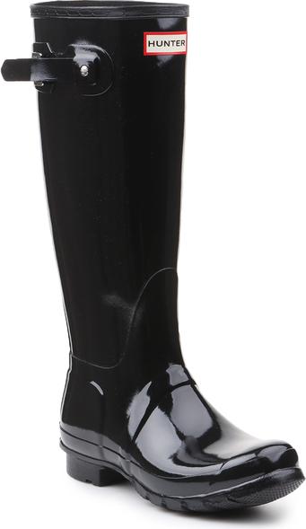 tani Czarne kalosze Hunter w stylu casual z płaską podeszwą wysokie Buty Damskie Kalosze QN EDPAQN-6