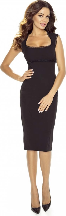 b722b025b9 Kartes-moda elegancka czarna sukienka midi