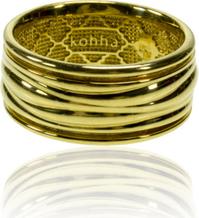 Kohha Obrączka pozłacana Baltic Gold