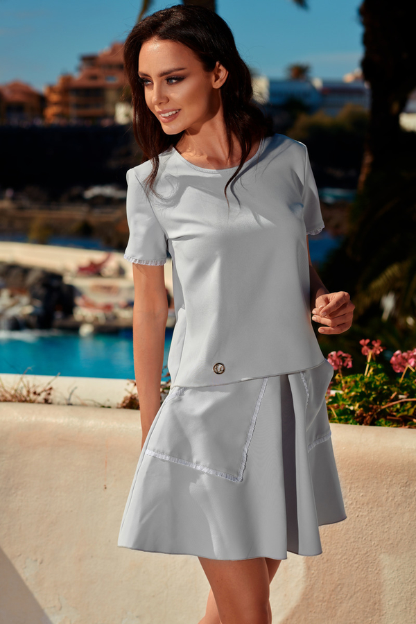Kostium damski Lemoniade w stylu casual mini