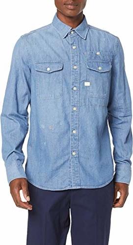 Koszula amazon.de z długim rękawem z jeansu