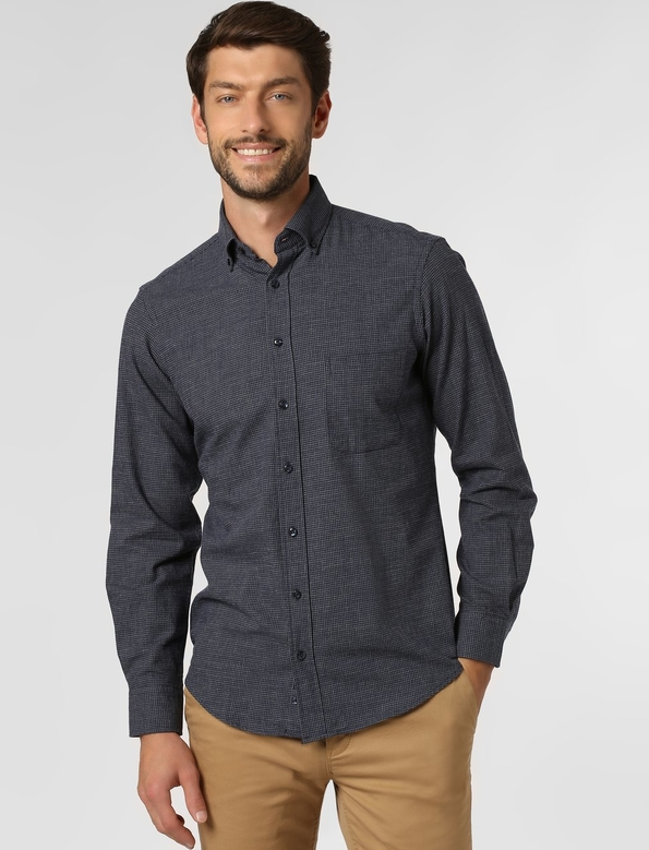 Koszula Andrew James z kołnierzykiem button down z długim rękawem