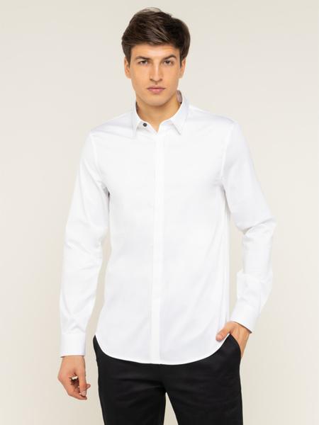 Koszula Armani Exchange z klasycznym kołnierzykiem z długim rękawem