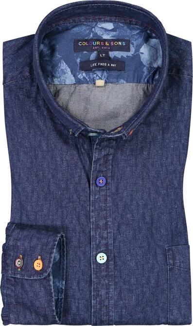 Koszula Colours & Sons w stylu casual z kołnierzykiem button down z długim rękawem