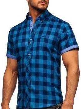 Koszula Denley z krótkim rękawem z kołnierzykiem button down w stylu casual