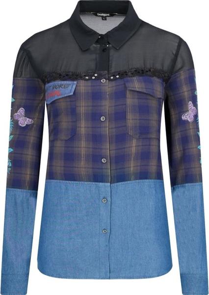 Koszula Desigual w stylu casual z długim rękawem