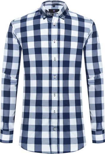 Koszula Di Selentino z kołnierzykiem button down z tkaniny