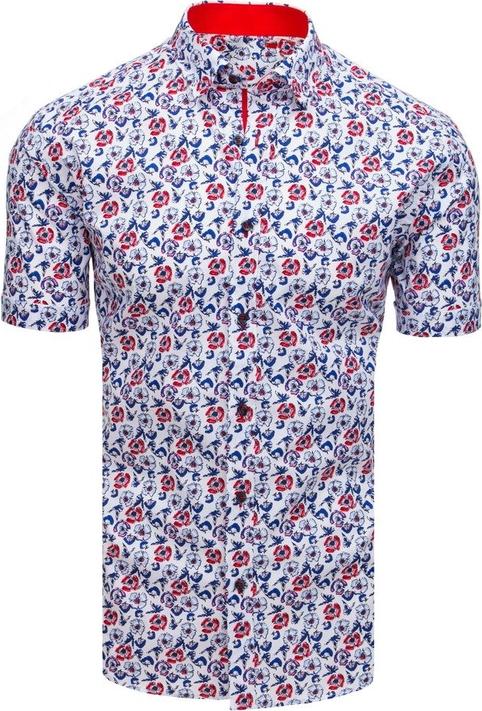 Koszula Dstreet z bawełny z krótkim rękawem z klasycznym kołnierzykiem