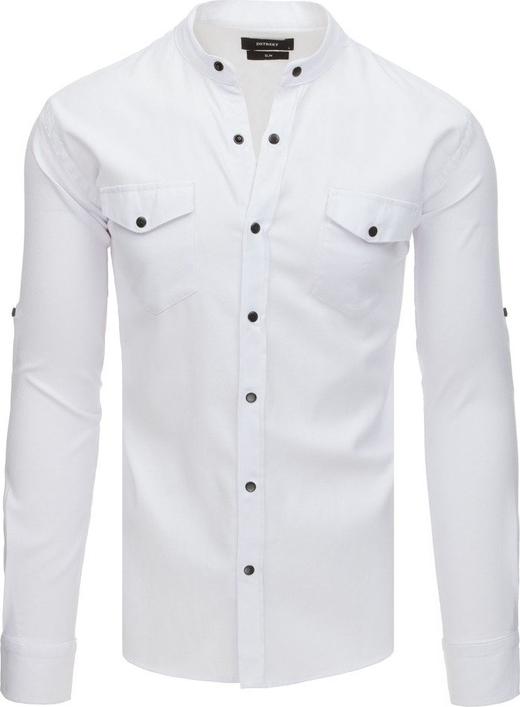 Koszula Dstreet z długim rękawem z bawełny ze stójką
