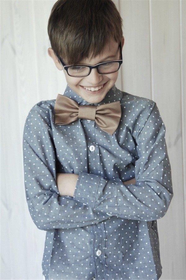 Koszula dziecięca e-lily.pl w groszki dla chłopców