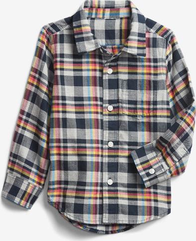Koszula dziecięca Gap w krateczkę z bawełny