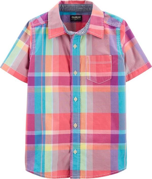 Koszula dziecięca OshKosh z bawełny w krateczkę