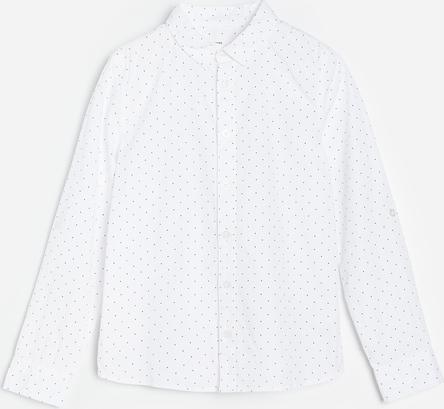 Koszula dziecięca Reserved w groszki z bawełny