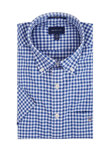 Koszula Gant z krótkim rękawem z klasycznym kołnierzykiem