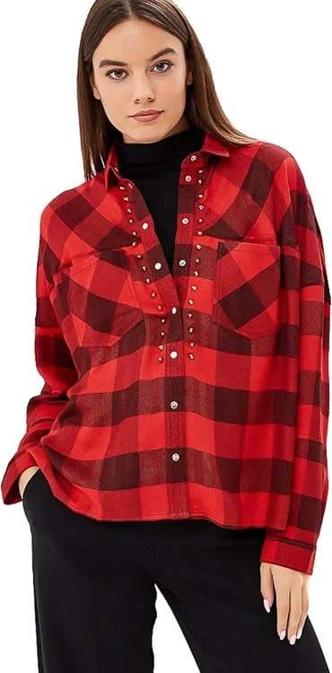 Koszula Guess z kołnierzykiem w stylu casual