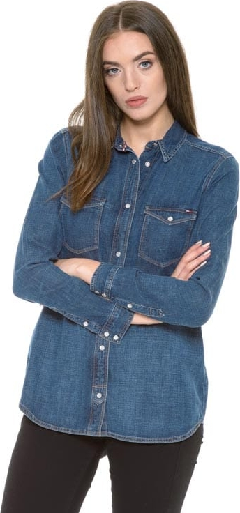 Koszula Hilfiger Denim w stylu casual z długim rękawem