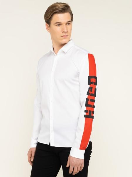 Koszula Hugo Boss z długim rękawem z włoskim kołnierzykiem