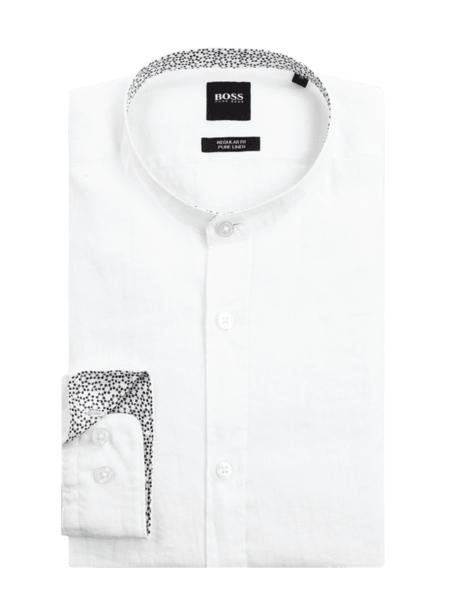 Koszula Hugo Boss z długim rękawem ze stójką