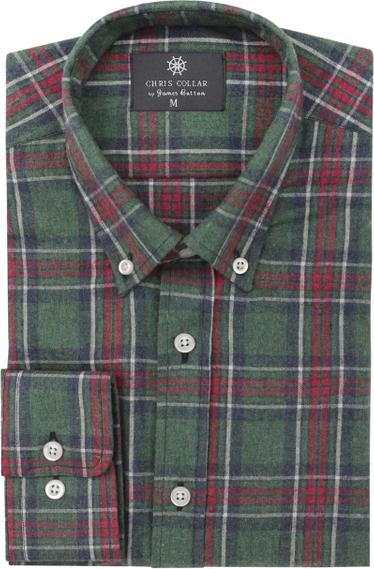 Koszula jamesbutton.com z kołnierzykiem button down z długim rękawem z bawełny