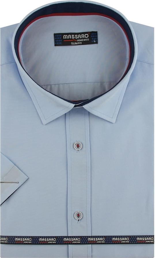 Koszula Massaro z klasycznym kołnierzykiem z krótkim rękawem z tkaniny