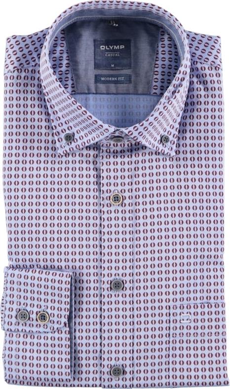 Koszula Olymp z bawełny z kołnierzykiem button down
