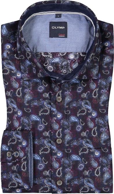 Koszula Olymp z klasycznym kołnierzykiem z bawełny