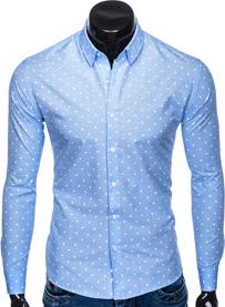 Koszula Ombre Clothing w stylu casual z klasycznym kołnierzykiem z bawełny