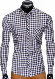 Koszula Ombre Clothing z bawełny z długim rękawem w stylu casual
