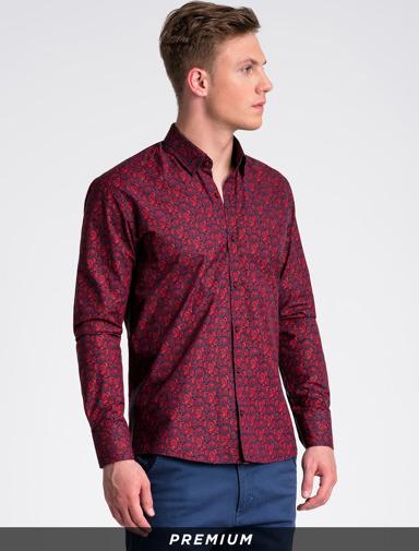 Koszula Ombre z długim rękawem z kołnierzykiem button down w stylu casual